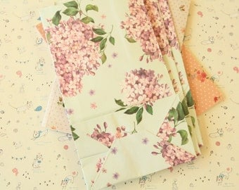 GREEN Blossom Floral Paper Bags
