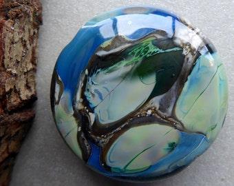 Destash Lampwork glass focal bead by Pamela Wolfersberger.