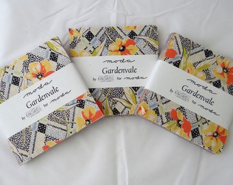 Fabric Sale GARDENVALE charm packs (3) Jen Kingwell Designs Moda precuts modern quilting sewing maker retro flowers Australia patchwork