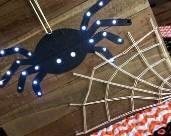 SALE Small Wood Pallet String Art Light Up Halloween Home Decor