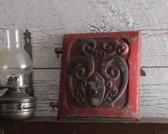 vintage home decor - Stove door - decorative - rustic chic