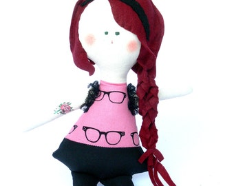 OOAK Hipster Doll - Child Friendly DOLL - Home decoration Handmade in Italy