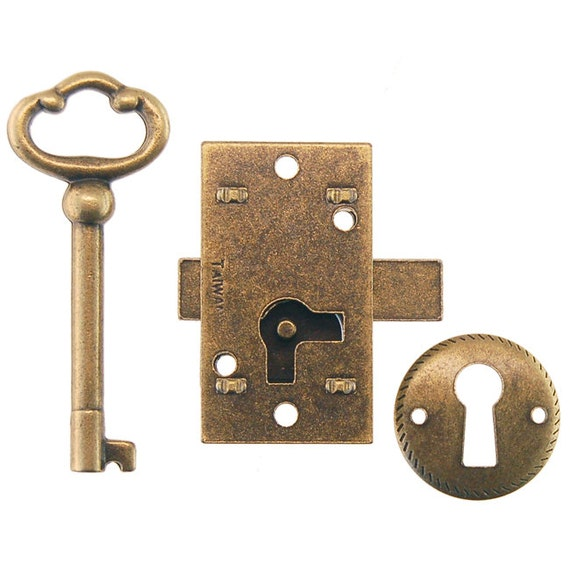 Surface mount lock and barrel key new 3 different sizes for Surface lock
