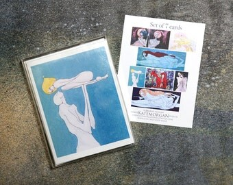 Set of 7 Blank Greeting Cards Images of Couples