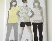Simplicity Sewing Pattern 3850 slim leg pants, capris, shorts, size 4-12, New and Uncut