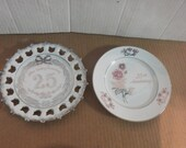 25th or 30th anniversary plates
