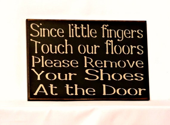 Items Similar To Since Little Fingers Touch Our Floors