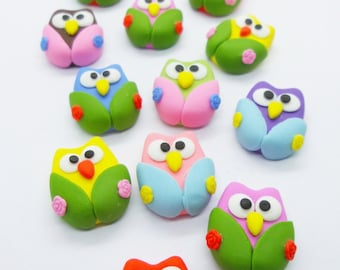 50 Miniature Polymer Clay Animal for Dollhouse and Beads Jewelry