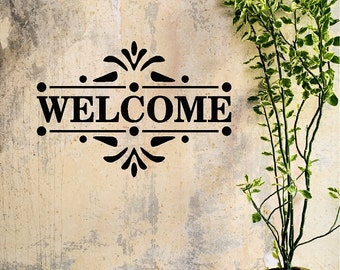 Welcome Decal Removable Welcome Wall Sticker Word Item #2
