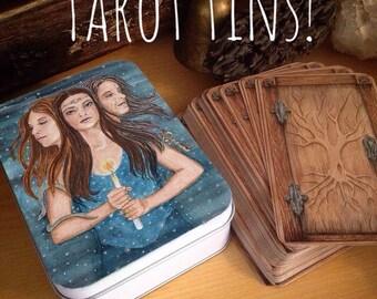 Tarot, Oracle Tin Triformis Triple Goddess of The Hidden Path Oracle Deck,