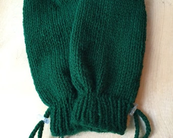 Adaptive Mittens for Special Needs or Elderly Adult, Hunter Green, Adaptive Clothing