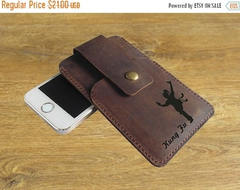 Holiday Sale 10% off Leather Iphone 5 case / Iphone 4 case / Iphone 5s wallet / engraved leather Iphone 5 case wallet for women