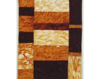 Abstract Mini Crazy Quilt Art Ombre Watermarks Geometric Patchwork