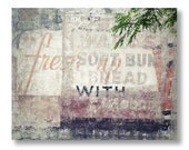 Vintage Advertising Photograph, Modern Industrial Home Decor, Photo of Old Advertising on Building, Modern Rustic, Loft Wall Art