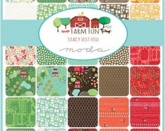 Farm Fun Layer Cake by Stacy Iest Hsu  for Moda- 42 ten inch squares