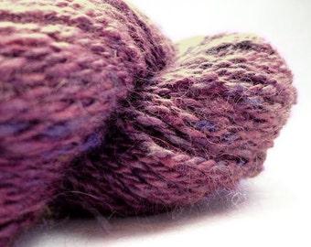 Heathered Purple Handspun Angora Yarn