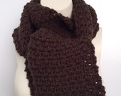 The Papi Collection, Crochet Men's Scarf, Crochet Expresso Scarf, Scarves and Shawls, For HIM, Unisex Scarf, Chunky Scarf