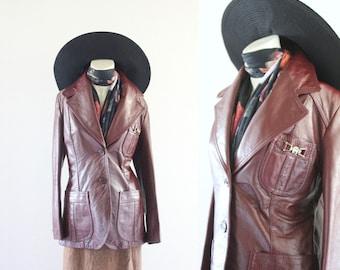 S A L E etienne aigner leather jacket
