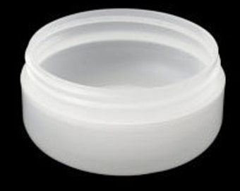 REDUCED - Set of TWELVE 4oz Frosted Double Wall Low Profile Jars with White Ribbed Caps