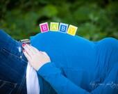 Maternity photo, Baby name blocks, wooden letter blocks, name blocks, childrens letter blocks, children's name blocks, personalized blocks