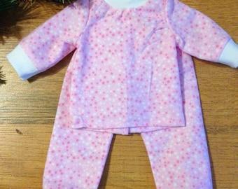 "Pink Star Pajamas for 18"" Doll"