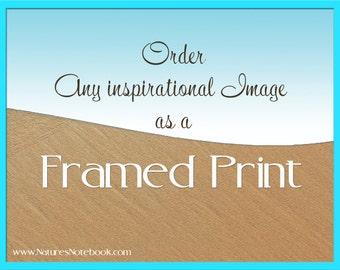 Custom Framed Photo Print, Order any Image as a Framed Print, Ocean Wall Decor, Framed Artwork - Large Prints