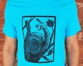 Rattle Snail Blue T-Shirt