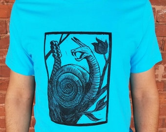 Rattle Snail Blue T-Shirt
