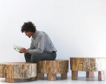 Coffee Table Stump Set Trio Modular Modern Organic Grouping