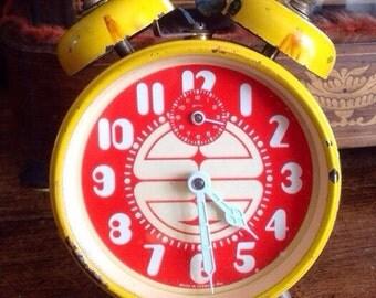 Vintage clock - tick tock - decor - home decor - Vintage german European - Vintage retro - retro decor