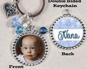 Photo Keychain, Double Sided, Key Chain for Grandma, Oma, Mimi, Nana, Mom Personalized Gift