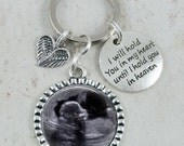 Custom Photo Keychain, Memorial Key Chain, Infant Loss, Miscarriage, In Loving Memory, Sympathy, Always in my Heart