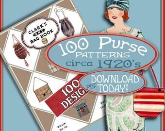 SALE MAKE 100 Flapper Bags and Purses 1920s Vintage e-Booklet PDF