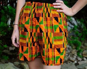 Vintage Ankara Shorts Ankara High Waist Ankara Print Shorts African Print Shorts High Waisted Shorts African Shorts High Waist Shorts