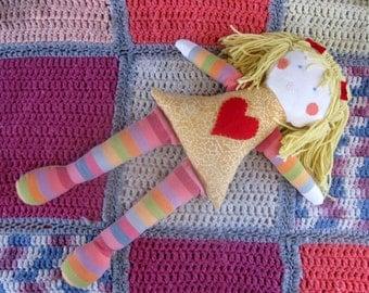 rag doll/eco friendly doll/fabric doll/cloth doll/rag doll
