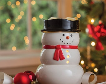 Snowman Tart Warmer, Tart Warmer, Tart Burner, Electric Tart Burner, Electric Tart Warmer, Wax Melter, Yule Tart Warmer