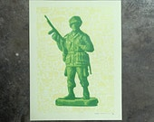 Soldier - hand pulled screenprint poster
