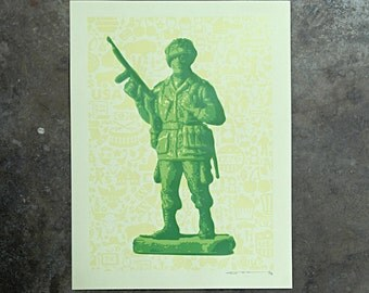 Soldier - hand pulled screenprint