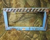 Hockey Stick License Plate Frame (Open Frame or Filled)