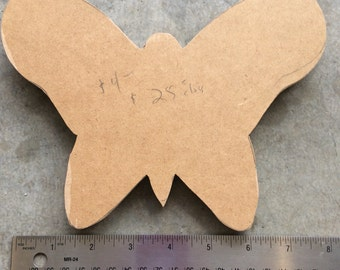"Wooden Butterfly 1/2"" MDF//wood form//paint supplies// substrates"