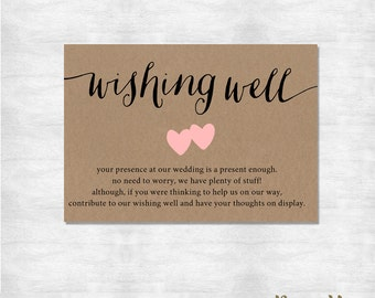 Items similar to Vintage Wishing Well Get Well Card ...