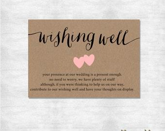 Wishing well insert Etsy
