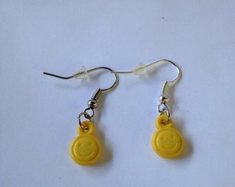 Summer Sale Yellow Smiley Face Earrings