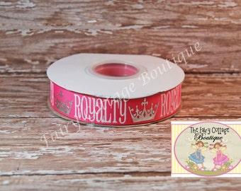 Pink Princess Royalty 7/8 inch Ribbon