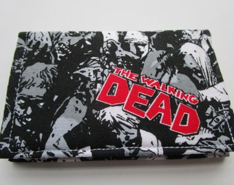 The Walking Dead Zombies Credit Card Wallet, Fear the Walking Dead, AMC Series, Comic Con, Small Wallet, Business Card Wallet, Gift Card