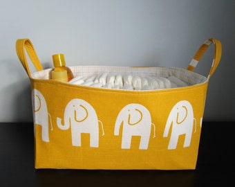 Large Diaper caddy,  Large Nursery Basket, Fabric Basket, Organization Bin, fabric storage bin, Toy Storage Basket, Decorative Basket