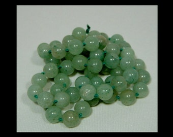 """Authentic translucent apple green jade bead necklace ~ genuine ~ 28"""" long ~ 10mm ~ 85 grams"""