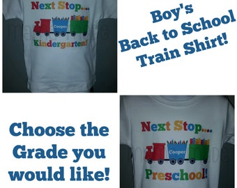 Boy's Back to School Shirt, Boys Train Back To school Shirt, Train back to school shirt, Boys First Day of school shirt, Train school tee