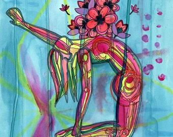Blossom Heart | Yoga Art Print