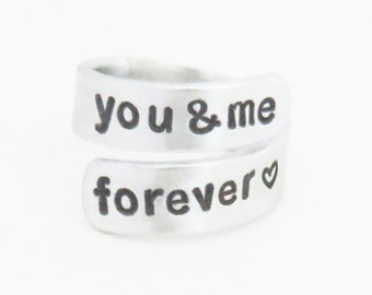 You and me forever ring - Relationship ring - Promise ring Couple ring - girlfriend ring boyfriend ring